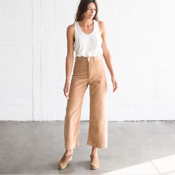 official price sneakers for cheap hot-selling official jesse kamm corduroy pants wide leg